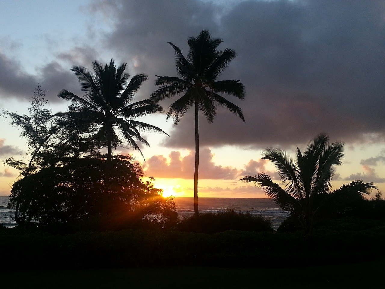 ハワイの夕焼け