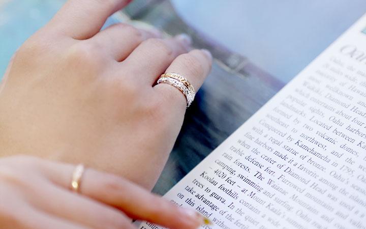 ピンキーリング,小指,指輪,ハワイアン