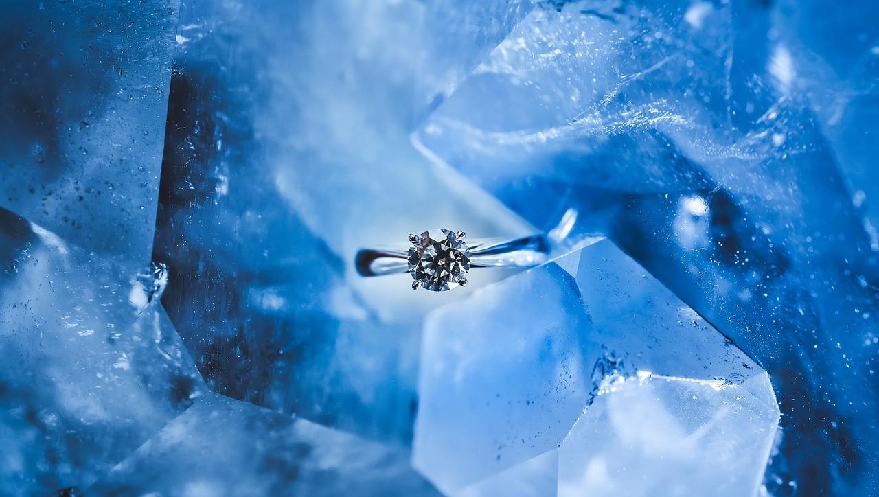 一粒ダイヤモンドのリング
