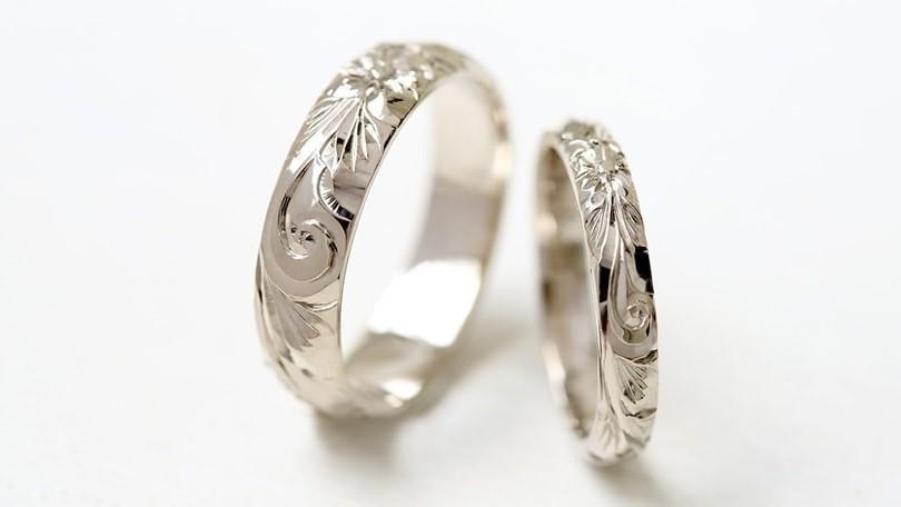 結婚指輪 ホワイトゴールド